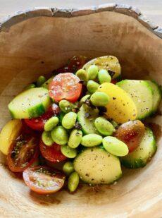 枝豆ときゅうりの簡単サラダ