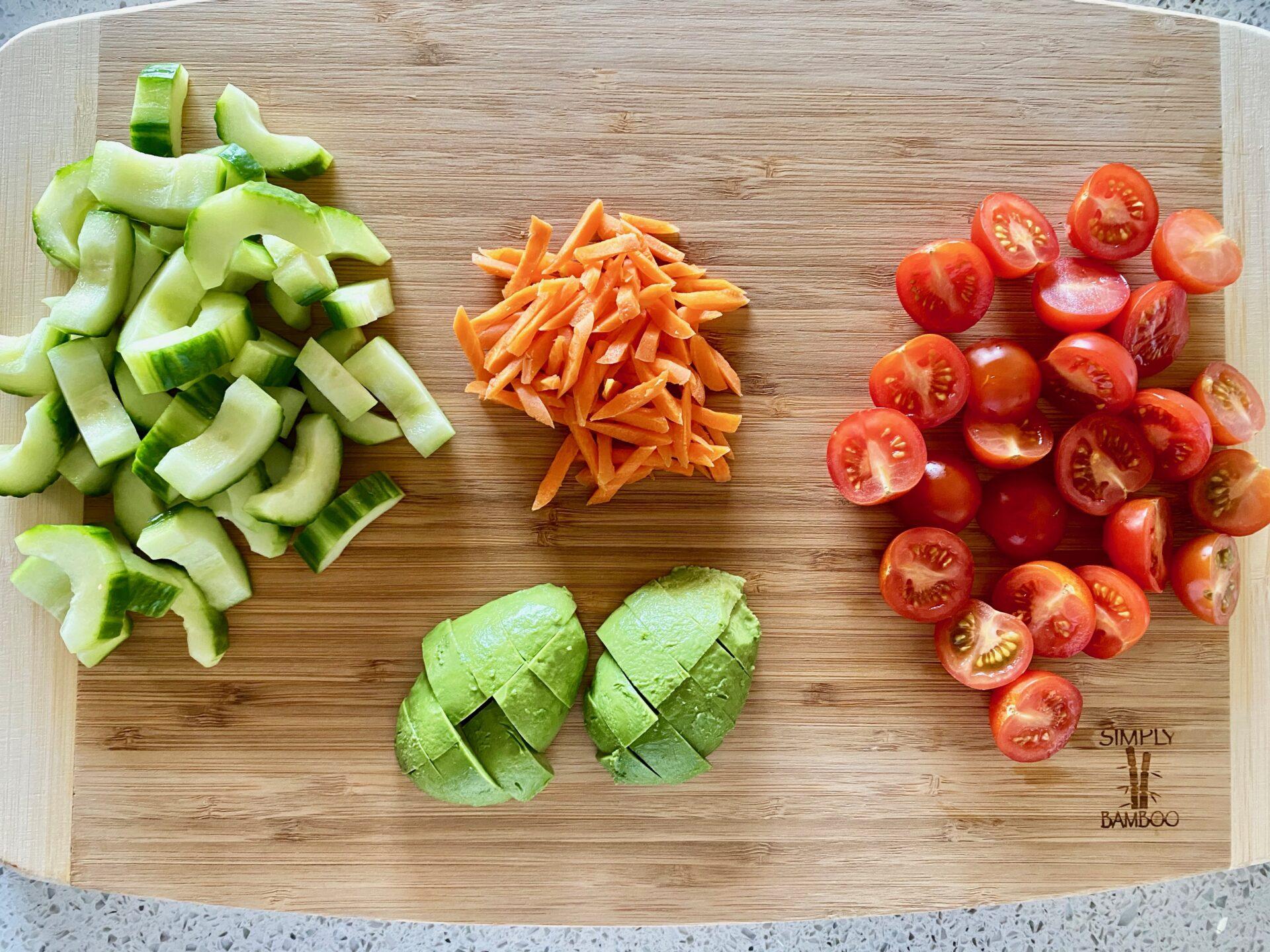 サラダに使う野菜