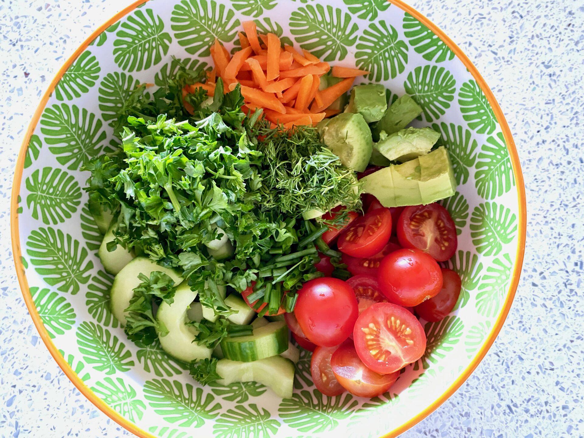 イタリアンサラダの野菜